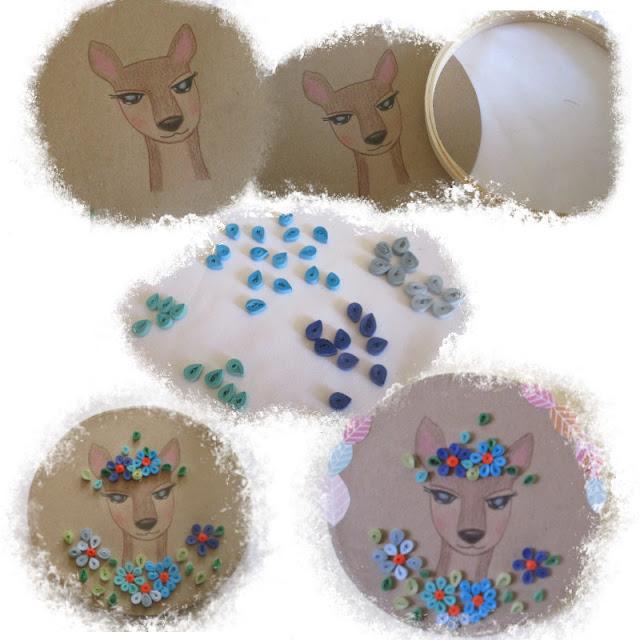 Cuadro decorativo de papel - filigrana