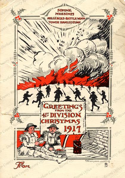 41st Division Christmas card, 1917 (D/DLI 7/463/2)