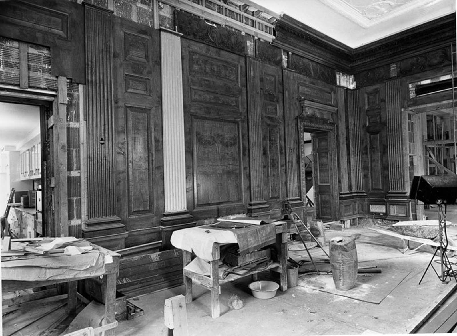 Northeast view of the State Dining Room. 1951.