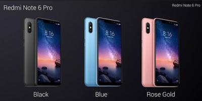 Varian Warna Xiaomi Redmi Note 6 Pro
