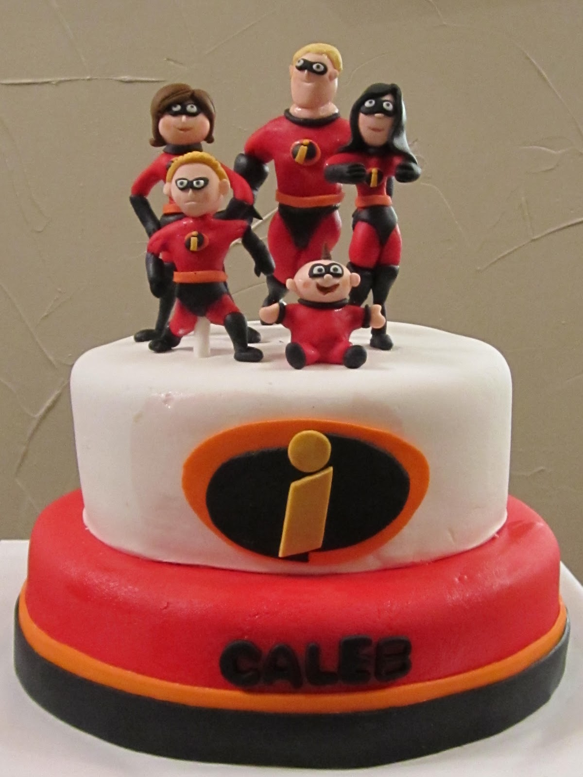 Decorations For Birthday Party At Home Frosted Insanity Incredibles Cake