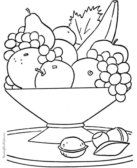 Jocuri Pentru Copii Mari şi Mici Cosuri Cu Fructe De Colorat