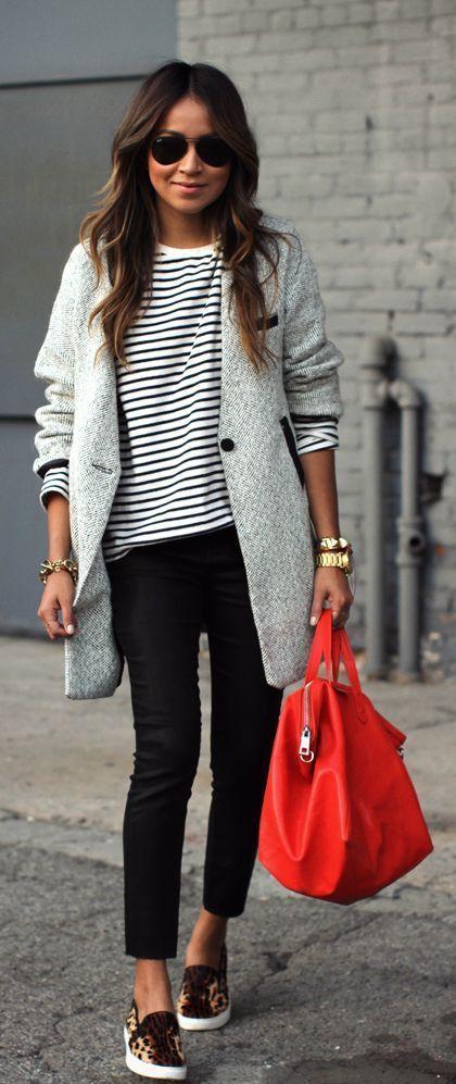 šedý kabát