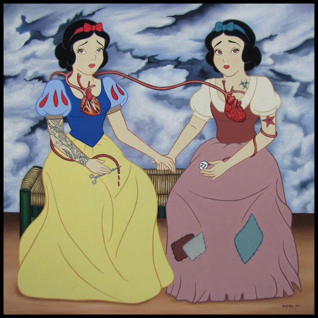 Snow White as Frida Kahlo Two Fridas