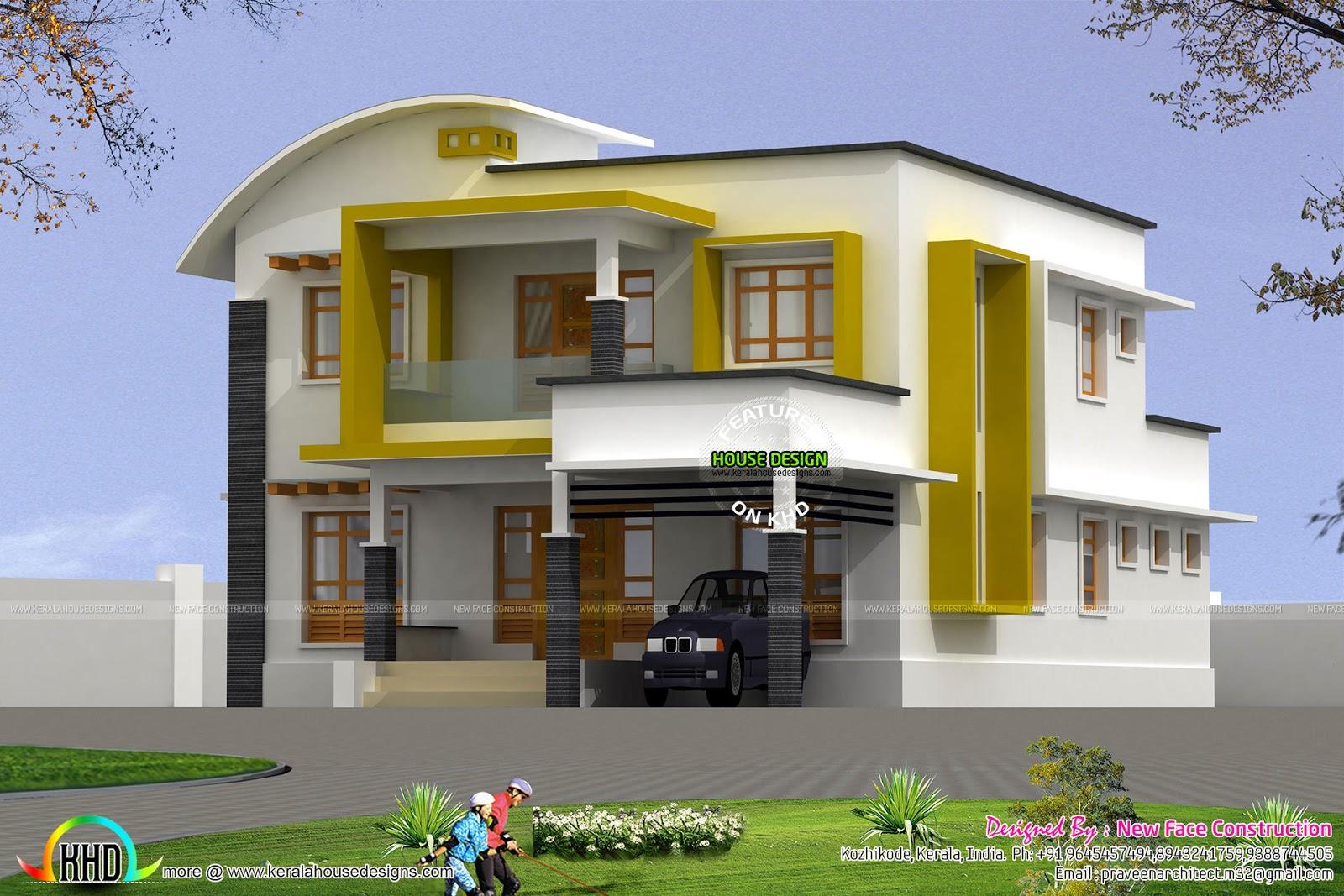 2282 square feet modern 4 bhk home kerala home design for 4 bhk home design