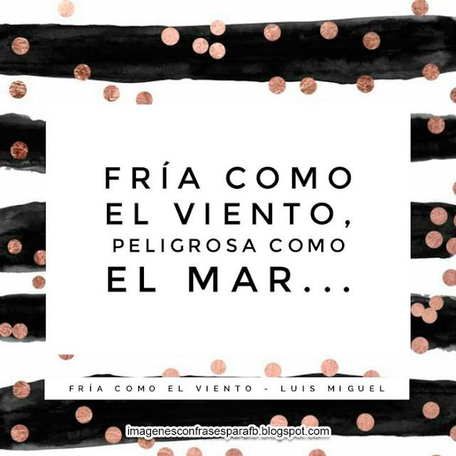 Frases Romanticas de Luis Miguel