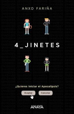 4 Jinetes Anxo Fariña  (Anaya - Febrero 2017) PORTADA LIBRO