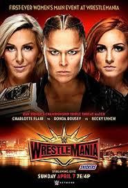 WWE WrestleMania 35. First-ever Women's Main Event at WrestleMania. StrengthFighter.com