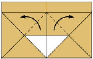 Step 7: Fold in the dotted line