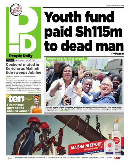 9th March: Headlines Across Top Kenyan Newspapers!