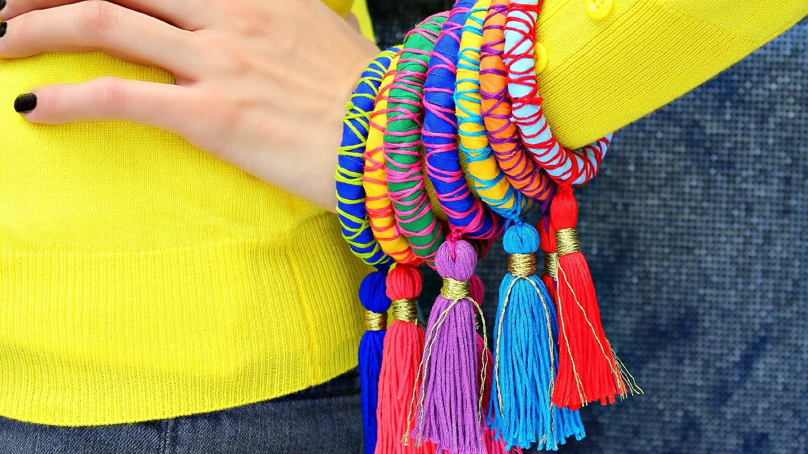 craft ideas for ladies montano rope and tassel bangles 3863