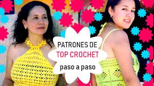 Patrones de 2 Tops para Tejer a Crochet con instrucciones paso a paso