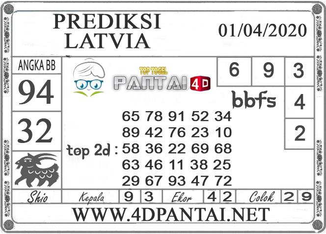 PREDIKSI TOGEL LATVIA PANTAI4D 01 APRIL  2020