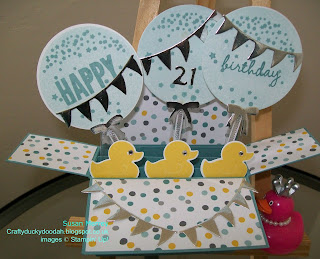 Stampin' Up! Made by Susan Simpson (Merrey) Independent Stampin' Up! Demonstrator, Craftyduckydoodah!, Rectangular Box Card Tutorial, Something For Baby, Celebrate Today,