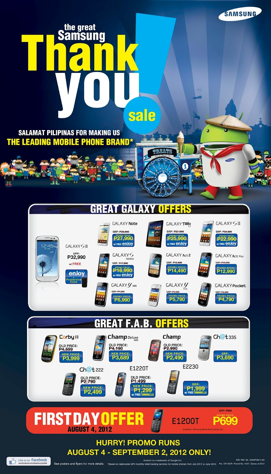 the great Samsung Thank You Sale