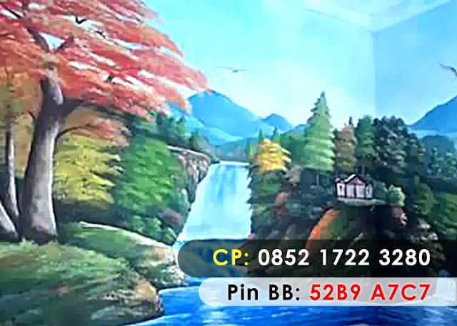 Lukisan 3D air terjun