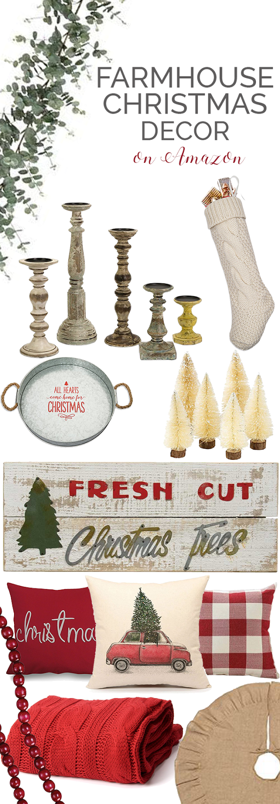 Farmhouse Christmas decor and decorating ideas
