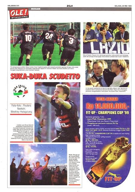 LEGA CALCIO SERI A AC MILAN SCUDETTO 1999