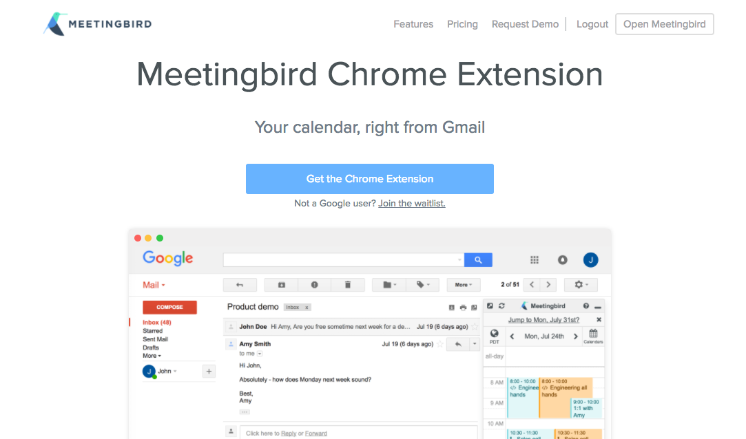 把 Google 行事曆插入 Gmail, Meetingbird 回信約行程利器