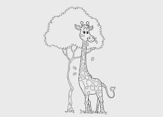 giraffe coloring pages printable for kids  free coloring