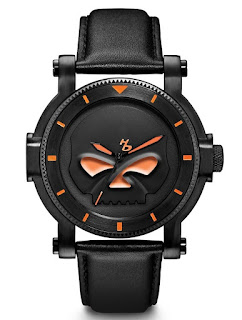Harley-Davidson Men's Bulova Black Willie G Skull 78A114