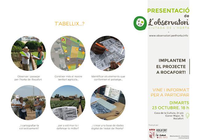 'Tardor per l'Horta' promociona y defiende el patrimonio natural de Rocafort