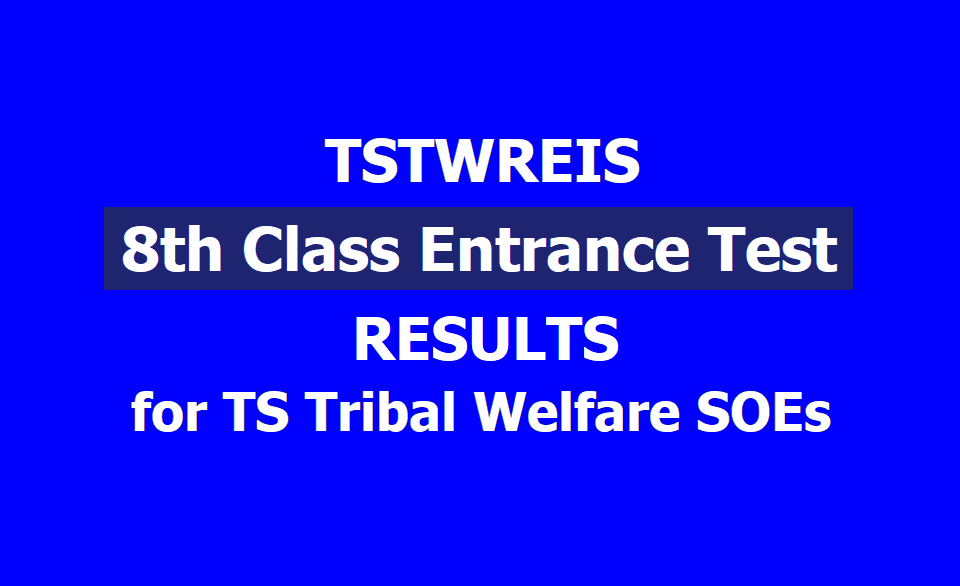 TSTWREIS Gurukulam 8th class Entrance Test Results 2019 (TS Tribal