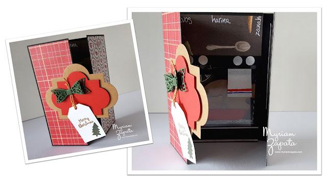 tarjeta de navidad pavo al horno - collage