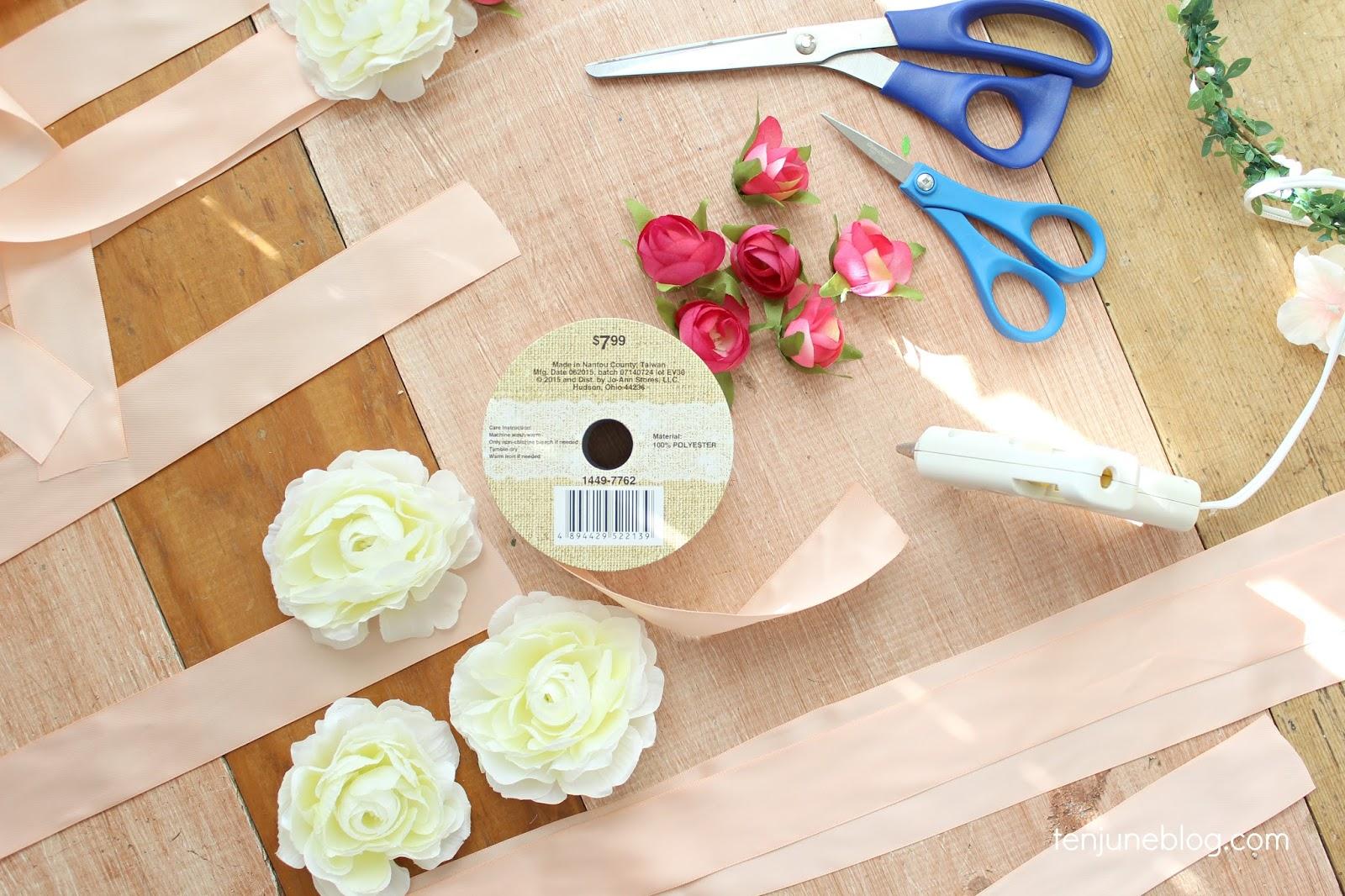 Ten June DIY Floral Wristlet Corsage for BabyBridal Shower