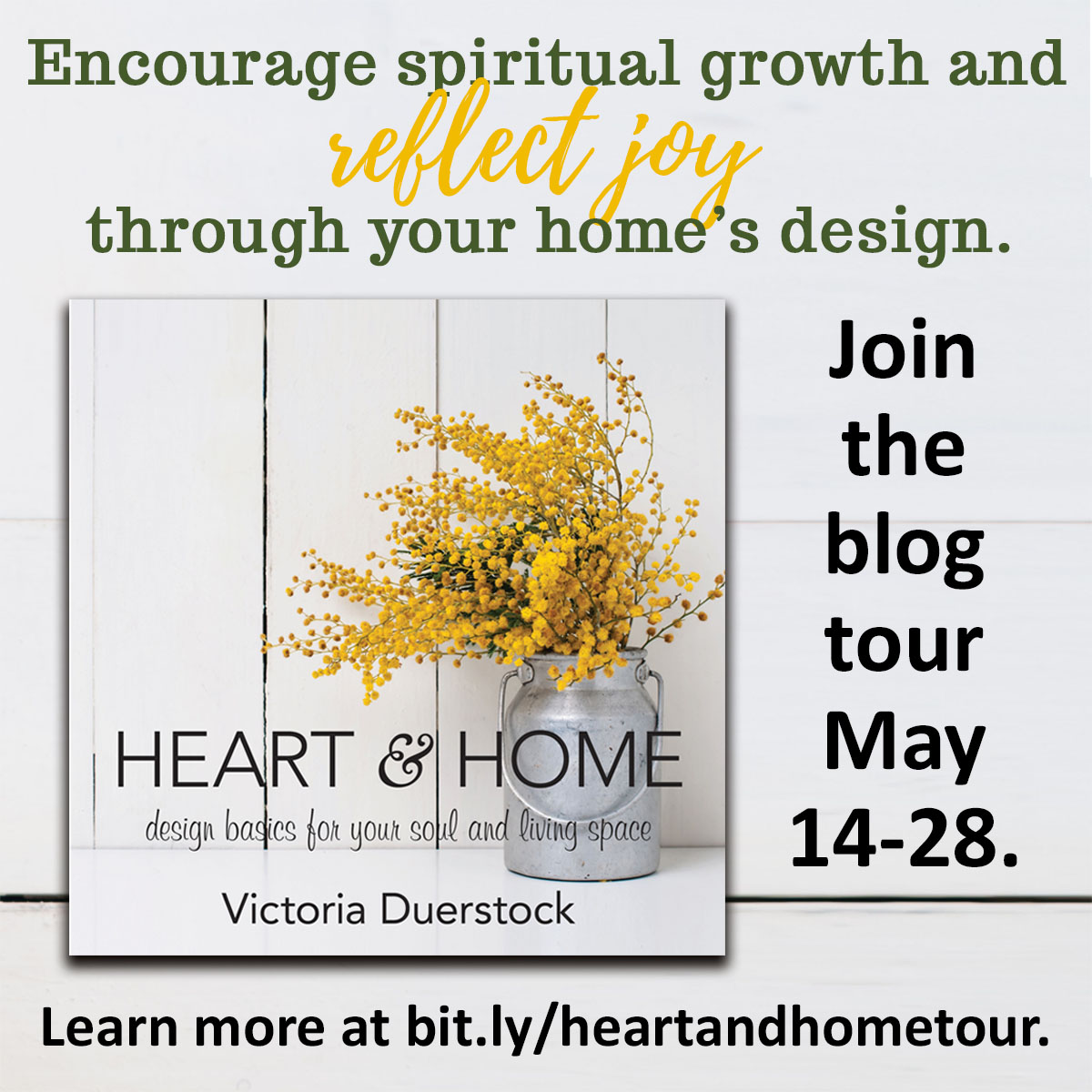 Join the blog tour for Heart and Home by Victoria Duerstock