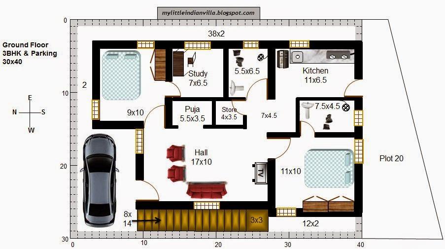 My Little Indian Villa: #37#R30 2.5BHK In 40x30 (West