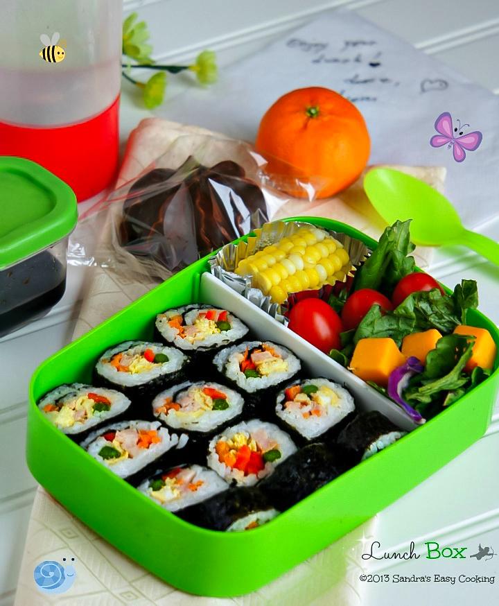 Lunch Box Kimbap  Sandras Easy Cooking