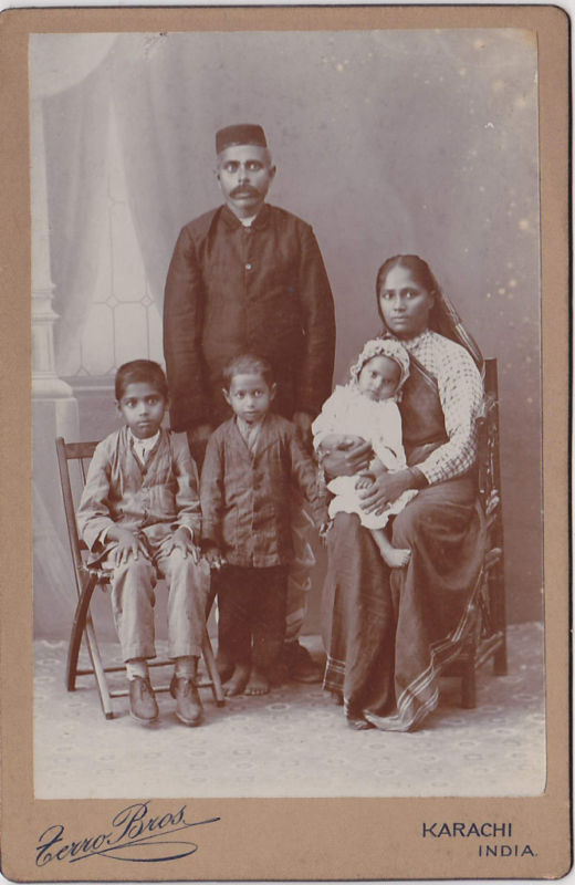 Indian Family Group Photograph from Karachi