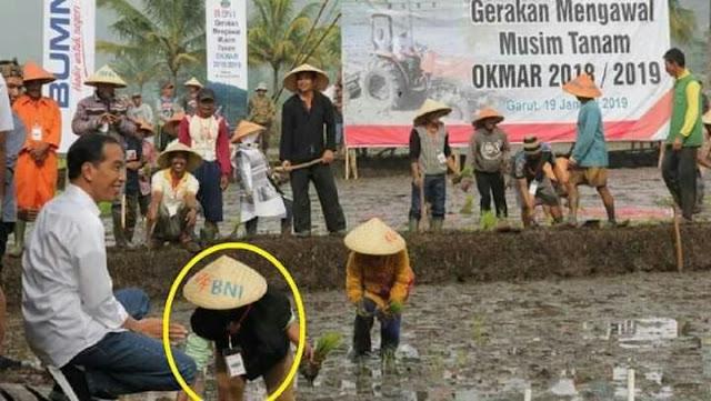 Beras Impor & Akting dengan Petani, Pencitraan Jokowi tak Laku