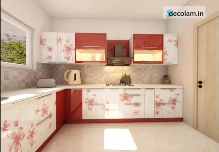 MODERN KITCHEN WITH HIGH GLOSS - TREND OF ACRYLIC LAMINATES