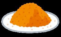 粉のイラスト(オレンジ)