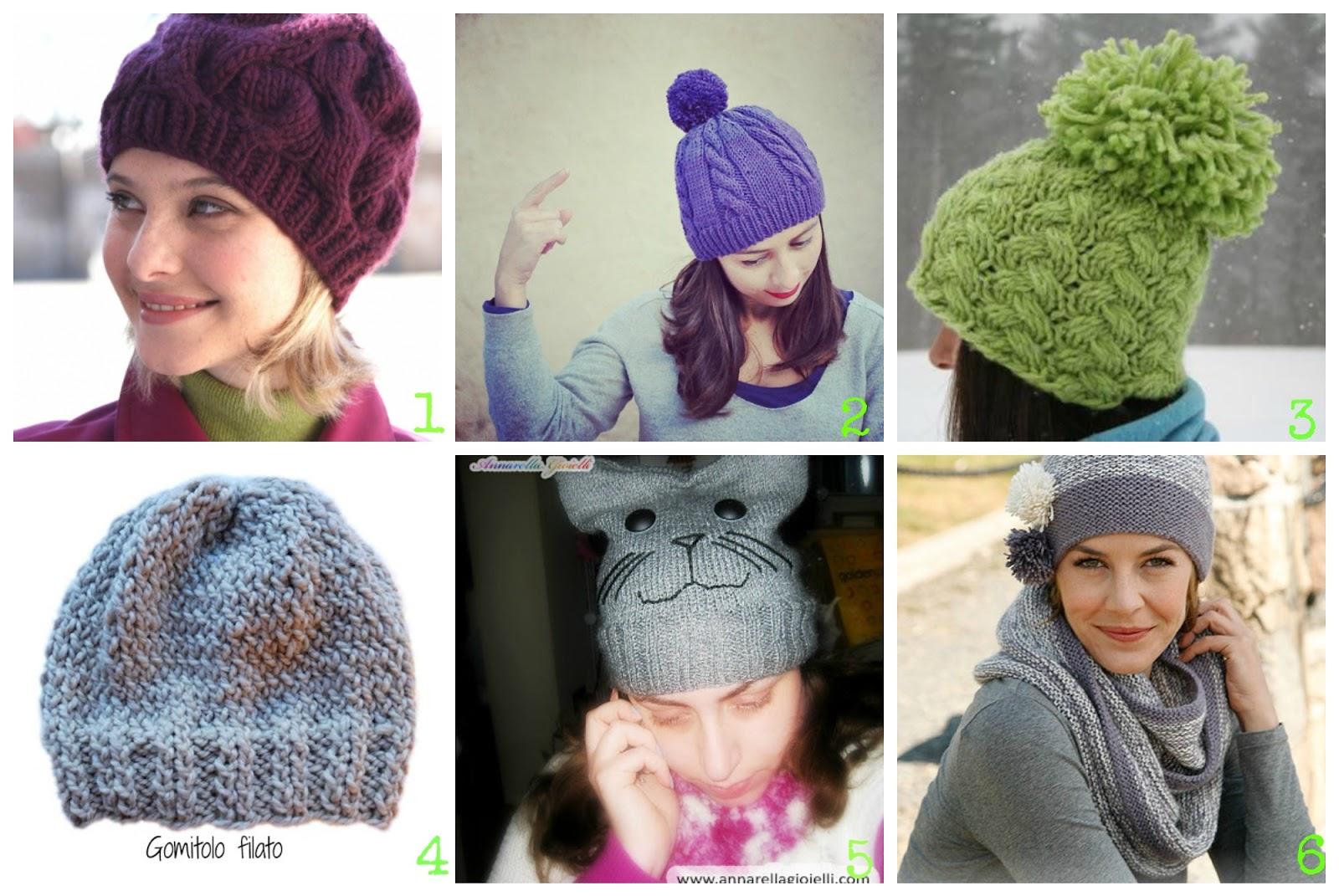stile attraente top design più economico 6 cappelli fai da te maglia ai ferri. Tutorial gratis in ...