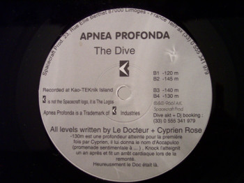 Apnea Profonda - The Dive art cover