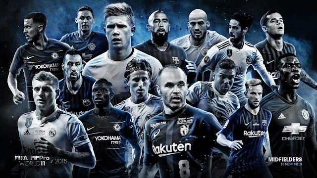 55 مرشح فى تشكيلة الفيفا المثالية لعام 2018