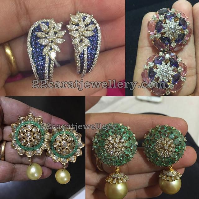 Precious Stones Studs with Drops