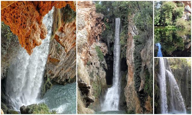 cascadas y lagos en el Monasterio de Piedra