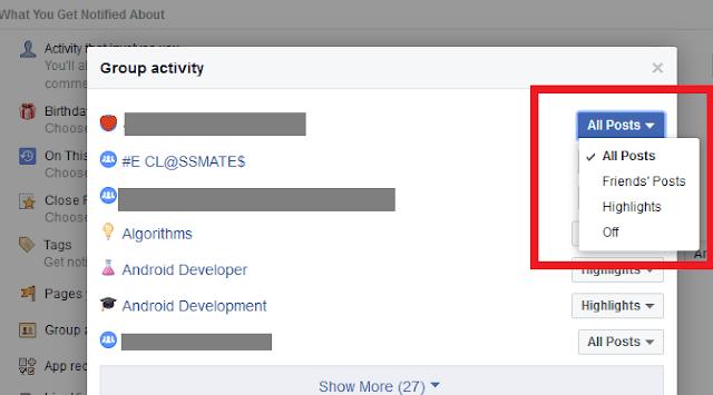 Beginilah Cara Menghentkani Notifikasi dari Grup Facebook Khusus 12