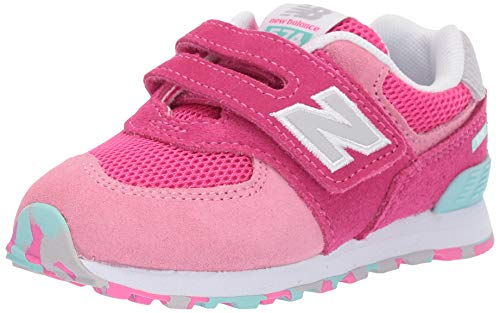 buy online 96482 0c11b #toddler #girl New Balance Girls' Iconic 574 Hook and Loop Sneaker,  Peony/Peony/Peony Glo, 5 W US ...