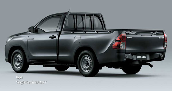 exterior all new toyota hilux single cabin