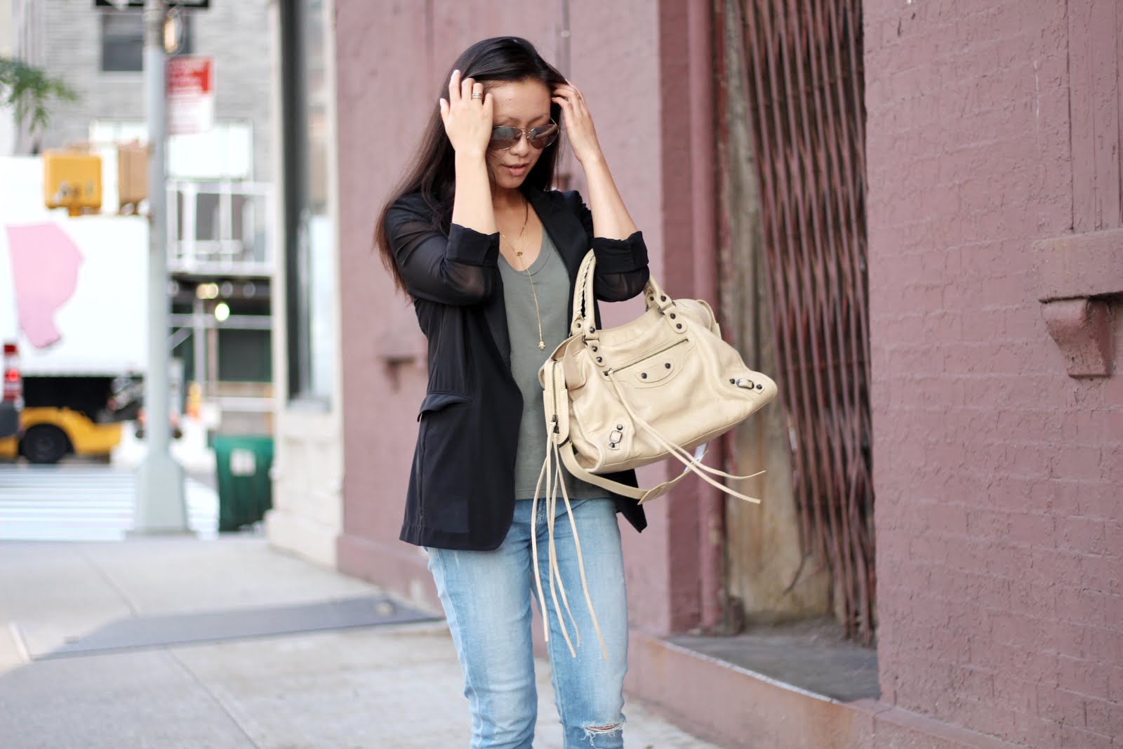 AGOLDE high waist crop skinny jeans