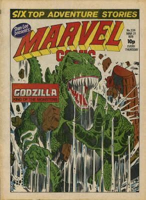 Marvel Comics #334, Godzilla