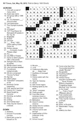 The New York Times Crossword in Gothic: 05.19.12 — Never A
