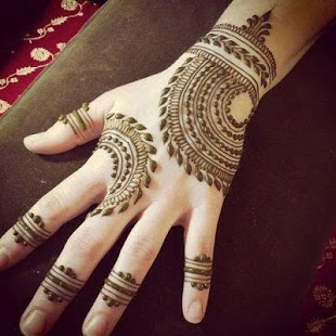 mehndi designs only fingers