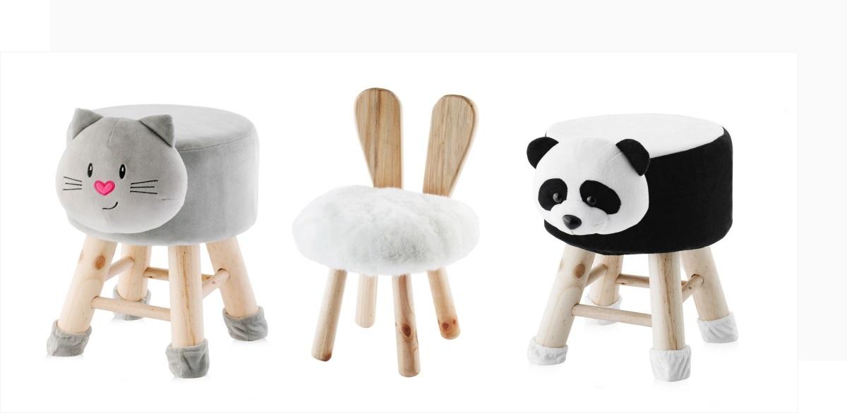 Piękne dodatki do pokoju dziecka - krzesełka i stołki