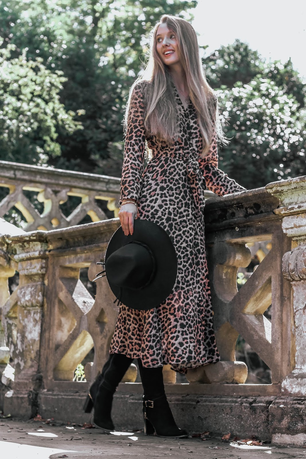Zara Animal Leopard Print Maxi Shirt Dress